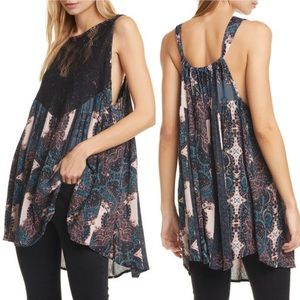 Free People Count Me In Trapeze Tank Top S NWT